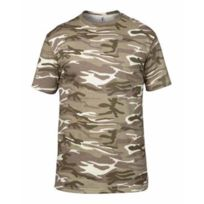 Anvil - T-shirt manches courtes army A939 Camouflage beige sable