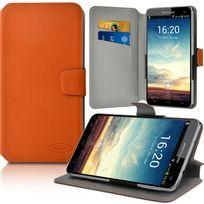 Karylax - Etui Porte-Carte Universel M Orange pour Nokia 6