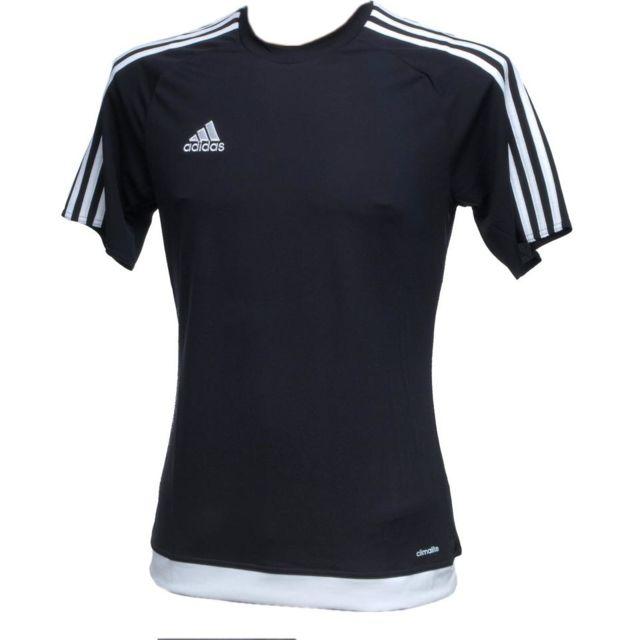 Adidas - Maillot de football Estro noir climalite Noir 44149 XS