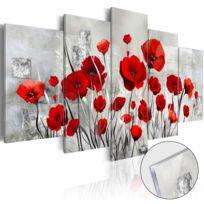 Bimago - Tableau sur verre acrylique - Scarlet Cloud Glass