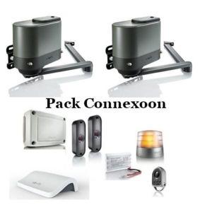 somfy kit de motorisation portail 2 battant axovia multipro 3s io connexoon pas cher achat. Black Bedroom Furniture Sets. Home Design Ideas