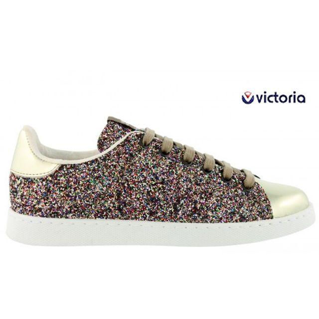 995c89adb910 Victoria - Baskets scintillantes stan multicolor rose 12558 femme 35 ...
