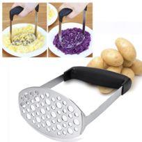 Schiacciapatate Forato In Acciaio Inox Resistente E Funziona A Pressione Lunghezza 27 Cm Multifunzionale Adatto Anche Per Frutta E Verdura