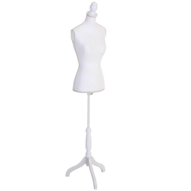 Mendler - Mannequin de couture T220, mousse synthétique, torse féminin ~  blanc avec dentelle 62c6d26a3133