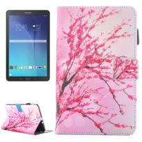 Wewoo - Housse Étui pour Samsung Galaxy Tab E 9.6 / T560 Peach Blossom Motif en cuir flip horizontal avec support et Slots de cartes Pen Slot