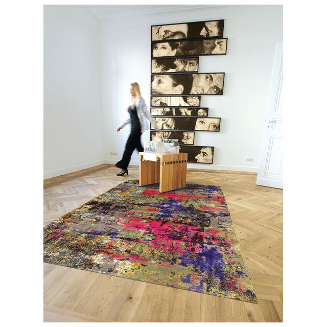 arte espina tapis de salon moderne design action art multicolore 140 200 pas cher achat. Black Bedroom Furniture Sets. Home Design Ideas
