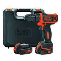 Black & Decker - Bdcdd12KB Perceuse-visseuse Lithium 10.8V 2 batteries en coffret