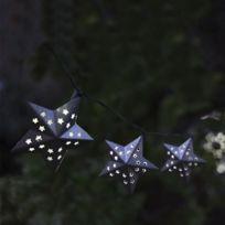 Smart Solar - Guirlande solaire Led étoiles métal