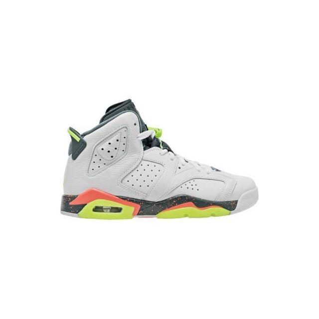 newest f0093 d4525 Jordan - Nike 6 Retro Gs - 384665-114 - Age - Adolescent, Couleur - Blanc,  Genre - Mixte, Taille - 36 - pas cher Achat  Vente Baskets enfant - ...