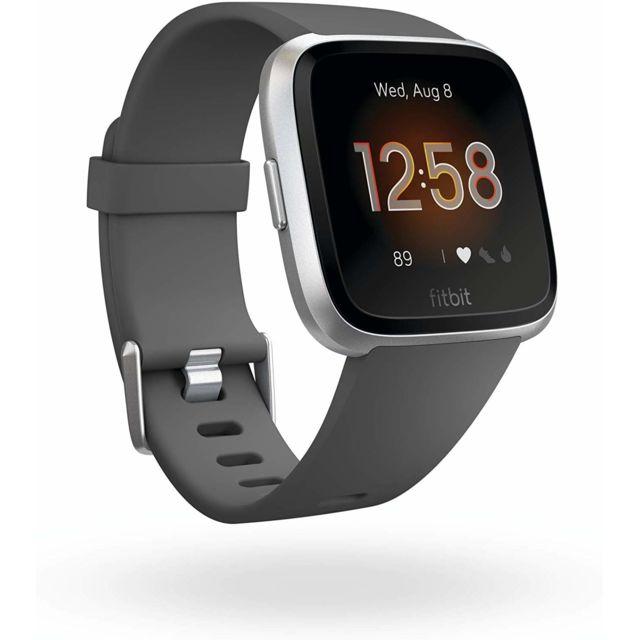Fitbit Montre intelligente Versa Lite Health & Fitness avec fréquence cardiaque, batterie 4+ jours et résistance à l'eau - Gris