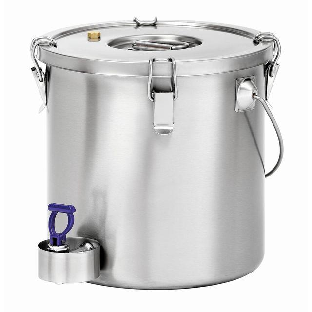Bartscher Conteneur isotherme 20L pour le transport des aliments robinet de purge et protection du robinet