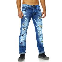 Amica Jeans   Jeans Déchiré Homme Jeans Am9617 Bleu