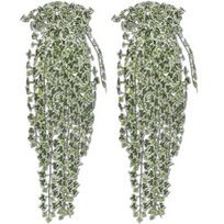 Rocambolesk - Superbe 2 pcs Lierre artificiel Vert panaché 90 cm Neuf