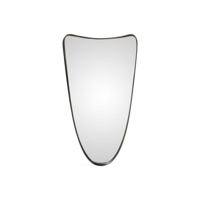 Declikdeco Miroir Design avec Cadre en Fer Noir Pamo