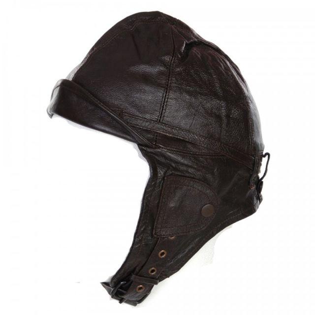98b7c18b9f2f Fostex - Bonnet cuir aviateur Noir - pas cher Achat   Vente Casquettes