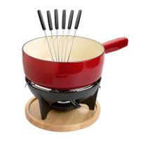 INVICTA - service à fondue savoyarde rouge rubis - 102310