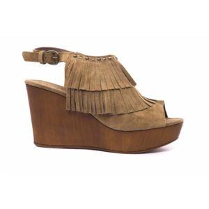Reqin's COMPENSEE KATINA MARRON - Livraison Gratuite avec  - Chaussures Sandale Femme