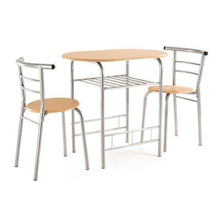Table + 2 chaises Bois