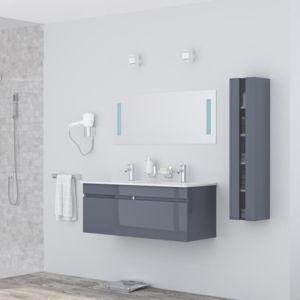 Aucune alban salle de bain complete double vasque 120 cm for Achat salle de bain complete