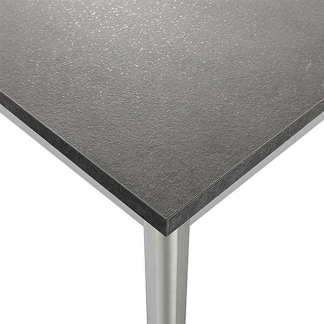 Nouvomeuble Table à manger design grise et blanche Azura