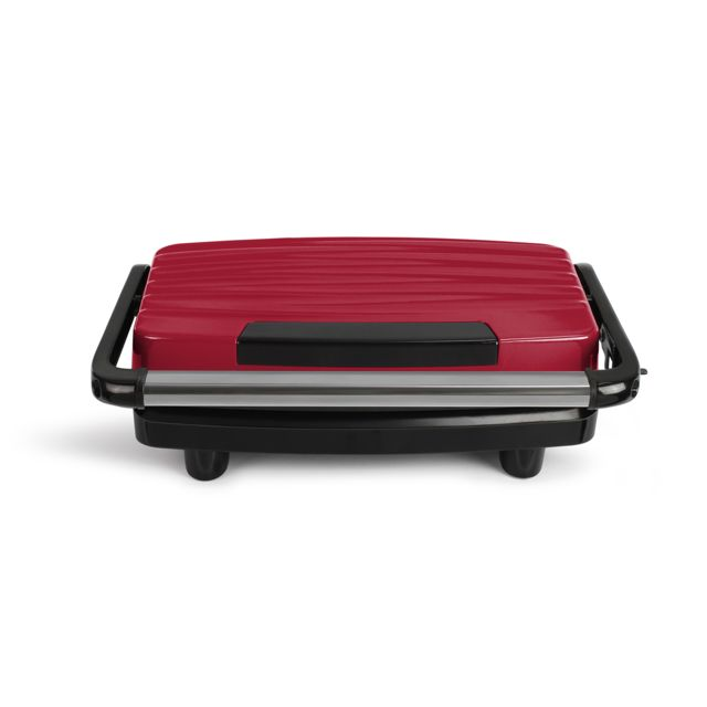 LIVOO grill viandes et panini 750w rouge/noir - doc232r