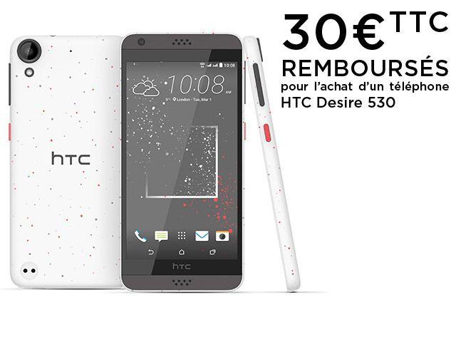 HTC Desire 530 - Remix Blanc Corail