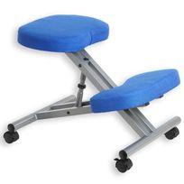 Idimex - Tabouret ergonomique Robert aluminium/bleu
