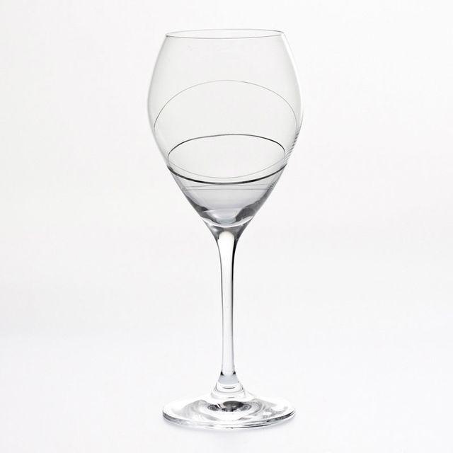 Table Passion Verre à eau à pied motif spirale 39cl - Lot de 6 Silhouette