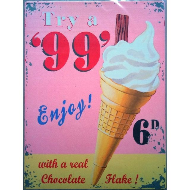 Universel Plaque glace 99 centstole deco glacier salon de thé cuisine