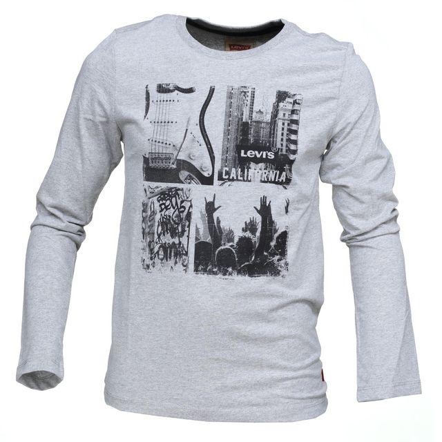 levi 39 s tee shirt gar on levis nk10157 24 marled grey. Black Bedroom Furniture Sets. Home Design Ideas