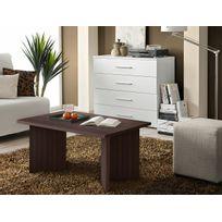 Asm-mdlt - Table basse laminée wengé rectangulaire Nano 90x45x60 cm