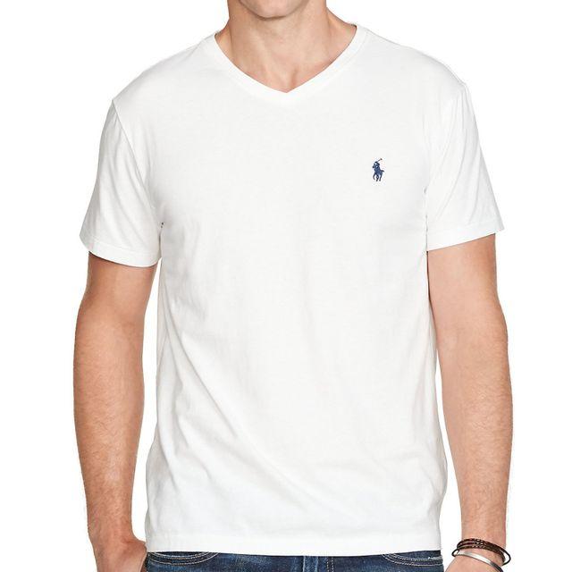 Polo Ralph Lauren - Ralph Lauren - T-shirt Manches Courtes - Homme - Cotton.  Couleur   Blanc 2d0c1554e336
