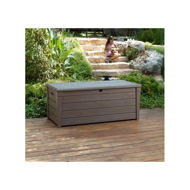 dedans dehors coffre de rangement en rsine santiago pas cher achat vente coffre de jardin. Black Bedroom Furniture Sets. Home Design Ideas