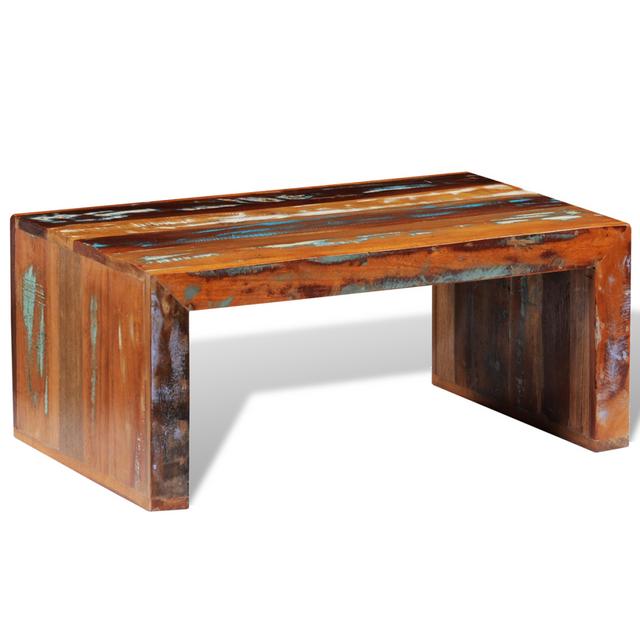 Vidaxl Table basse en bois de récupération vintage