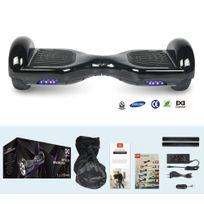 COOL AND FUN - COOL&FUN Hoverboard Batterie Samsung, gyropode 6,5 pouces Noir