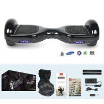 COOL&FUN Hoverboard Batterie Samsung, Scooter électrique Auto-équilibrage,gyropode 6,5 pouces Noir
