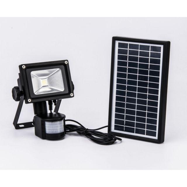 projecteur solaire d tecteur de mouvement 800 lumens pas cher achat vente lampadaire. Black Bedroom Furniture Sets. Home Design Ideas