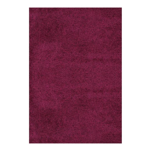 allotapis tapis shaggy uni pourpre en polypropyl ne orlando 40 60 pas cher achat vente. Black Bedroom Furniture Sets. Home Design Ideas