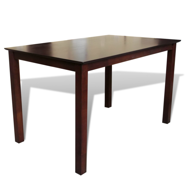 Vidaxl Table à manger marron 110 cm en bois massif