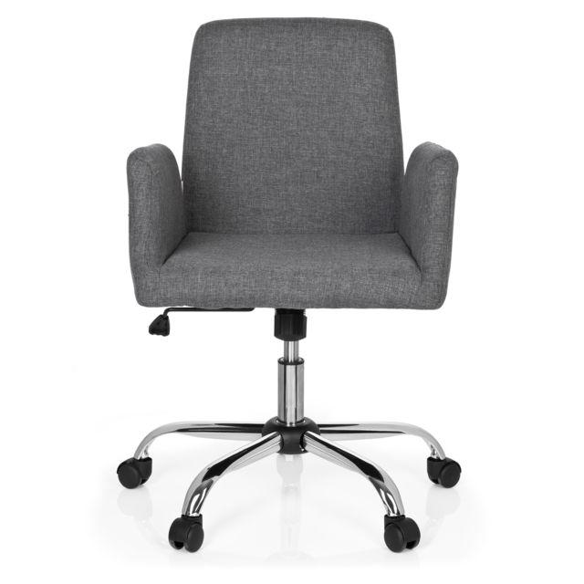 Hjh Office Chaise de bureau Flow tissu gris clair