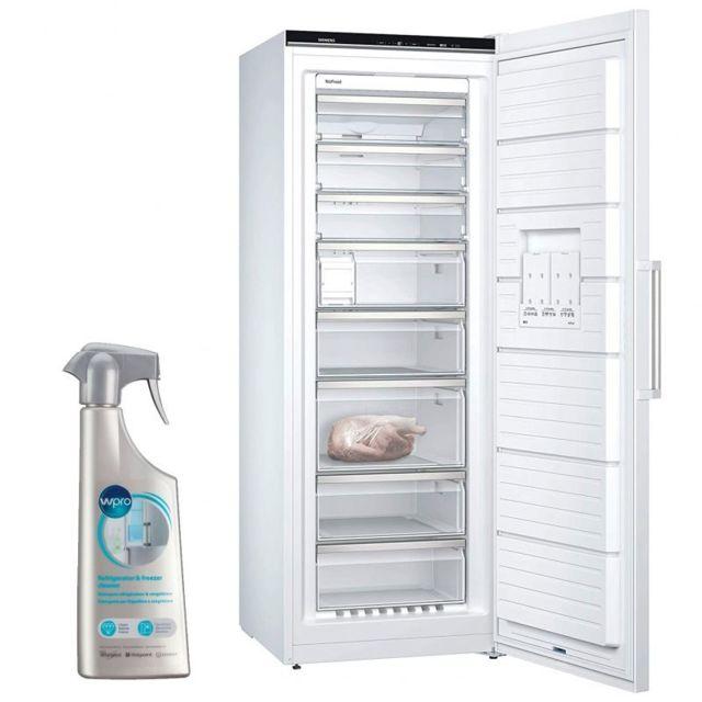 Siemens Congélateur armoire vertical blanc A+++ Froid ventilé 365L Autonomie 25h No-frost