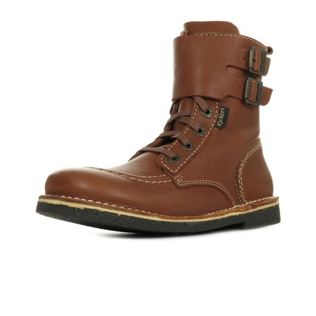 Kickers Meenely Camel pas cher Achat Vente Bottes