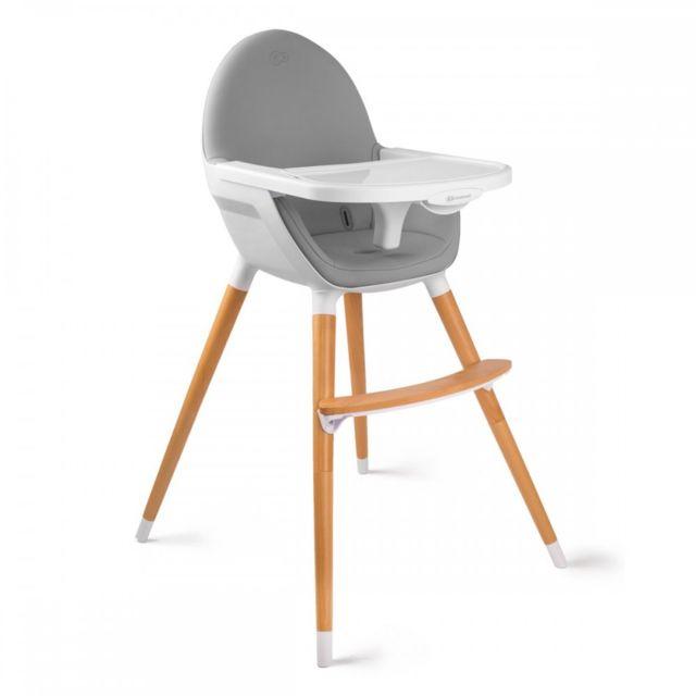 kinderkraft fini chaise haute bb 2en1 style scandinave nordique bois gris - Chaises Hautes Scandinaves