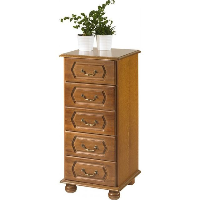 Commode Chiffonnier Chene Rustique 5 Tiroirs