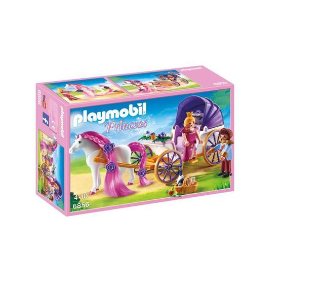 PLAYMOBIL - Calèche royale avec cheval à coiffer - 6856