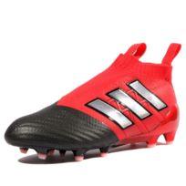 half off eca7e 4a889 Adidas - Ace 17+ Purecontrol FG Garçon Chaussures Football Noir Rouge Noir  36 2