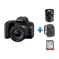 CANON - Appareil photo reflex 200D 18-55 + Sac à dos reflex- Manfrotto Trvael Backpack gris + Carte SDHC Ultra 16 Go + Objectif Art   50mm F1.4 DG HSM - Monture