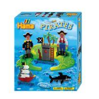 Hama - Boîte de 3000 perles et plaques Midi : Les pirates