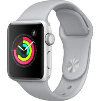 APPLE - Watch 3 38 - Alu argent / Bracelet Sport nuage