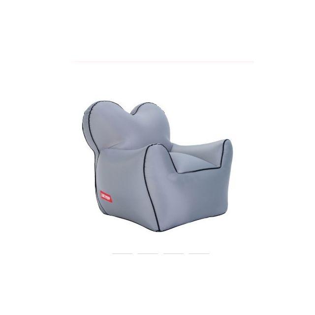 Wewoo Fauteuil Sofa de haricot gonflable imperméable à l'eau simple portatif extérieurtaille 60x70x60cm gris